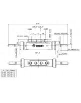 Brembo Racing Tandem Master Cylinder XA7B912