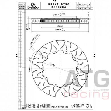 Brembo Racing Disc 380x34 09779212 / 09.7792.12