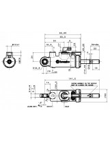 Brembo Racing Master Cylinder with travel sensor 22,22mm XB2B5B0