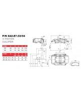 Brembo Racing 4 Kolben Sattel XA2E704