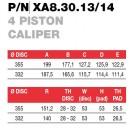 Brembo Racing 4 Piston FORGED Caliper XA83014