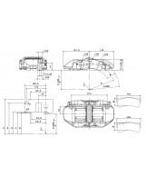 Brembo Racing 6 Kolben Sattel XA5C202