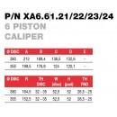 Brembo Racing 6 Piston FORGED Caliper XA66121