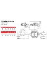 Brembo Racing 6-ти поршневой тормозной суппорт XB2V002