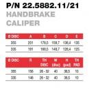 Brembo Racing суппорт ручного тормоза 22588211