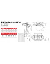 Brembo Racing 8 Kolben Sattel XA5D602