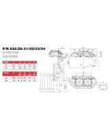 Brembo Racing 8 Kolben Sattel XA5D604
